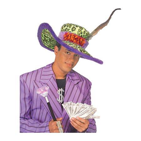 Adult Fiber Optic Gangster Hat Rubies 49478
