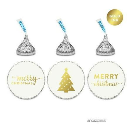 Stickers Wholesale (Koyal Wholesale 216 Piece Merry Christmas Chocolate Drop Label)