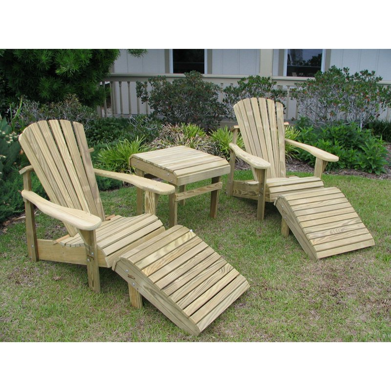 Weathercraft Designers Choice 5 pc. Adirondack Chair Set by Weathercraft Outdoor Furniture Inc