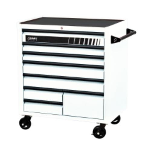 Sunex 8060WH Premium 8 Drawer Service Carts [41w X 24d X 42h] - White