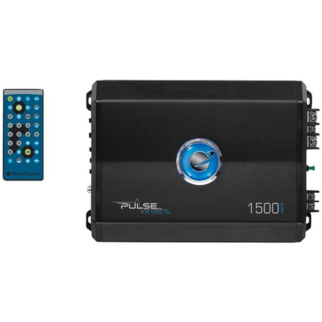 Planet Audio PL1500.1M Max 1500 watt Pulse Series Monoblock Class AB amp, Black