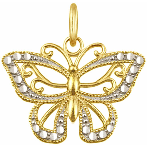 US GOLD 10kt Gold Butterfly Charm Pendant