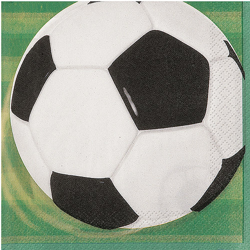 Soccer Beverage Napkins, 16ct