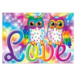 Fancyleo DIY Full Drill Colorful Owl Diamond Painting 5D Embroidery Cross Crafts Stitch Home -