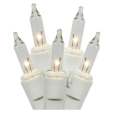 Bethlehem Lighting 35 Light (LiteSource 33532 - 35 Light 11.5' White Wire Clear Miniature Christmas Light String Set with 3