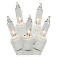 """Gerson 60177 - 35 Light White Wire Clear Miniature Christmas Light String Set with 3"""" Spacing"""
