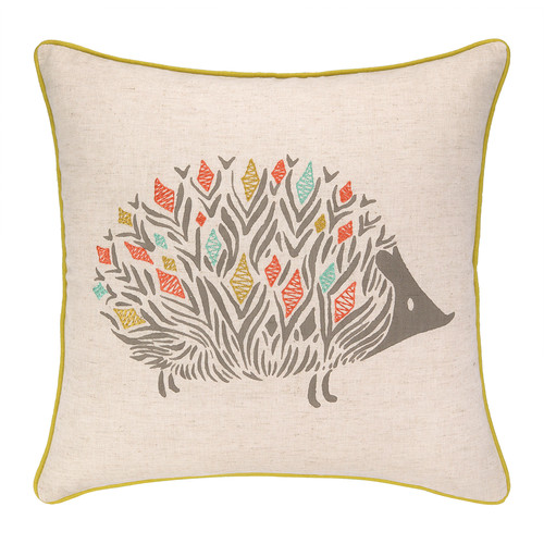 Sarah Watts Porcupine Park Printed Reversible Throw Pillow