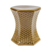 Alfresco Home Seviya Ceramic Garden Stool - Earth Brown