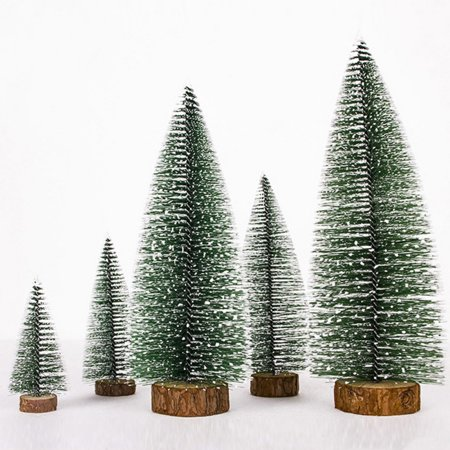 Artificial Mini Christmas Trees Tabletop Trees Snow Ornaments for Christmas Party Home Decoration ()
