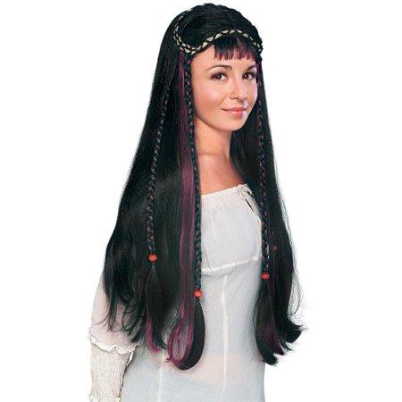 Fair Maiden Medieval Renaissance Women's Long Black Braids Costume Wig - Medieval Braids