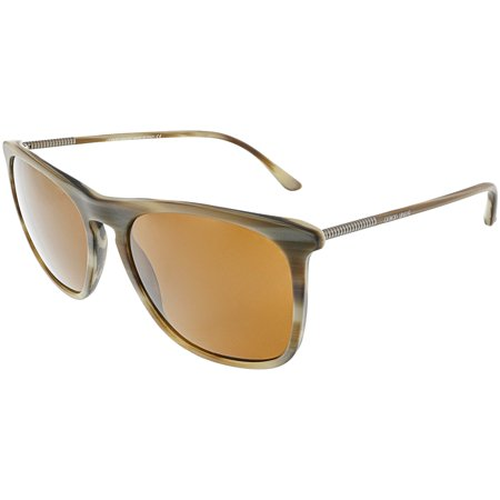 be8e2b3eef9 Giorgio Armani Men s AR8076-549473-55 Brown Rectangle Sunglasses - image 1  ...