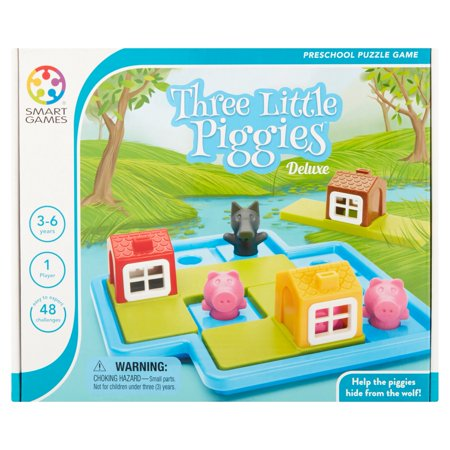 Smart Games Three Little Piggies Deluxe Preschool Puzzle Game 3-6 Years - Pre K Halloween Games