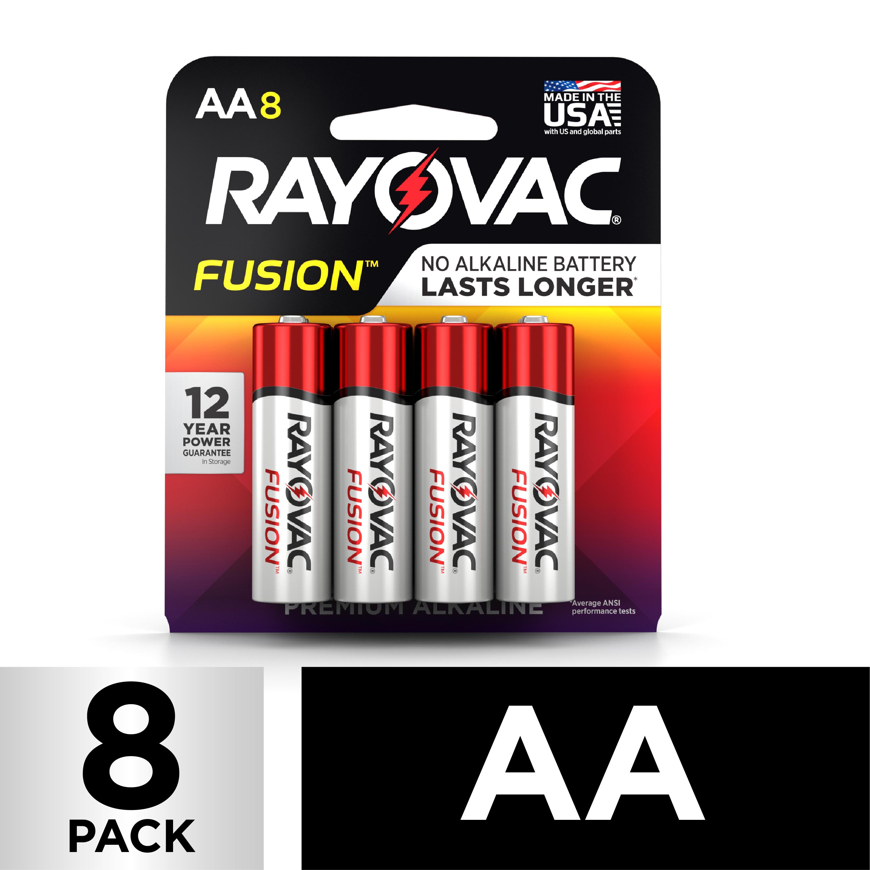 Rayovac FUSION Premium Alkaline, AA Batteries, 8 Count