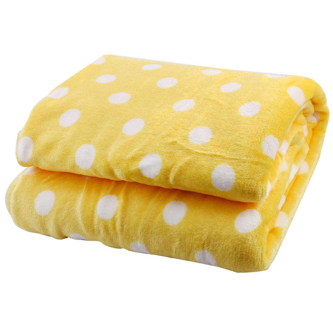 Household Flannel Dot Pattern Soft Quilt Rug Shawl Handmade DIY Cloth 1.75 x 1M