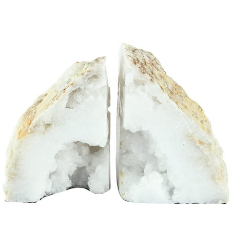 Two Bookends (A&B Home Natural Geode Bookends, Set of 2)