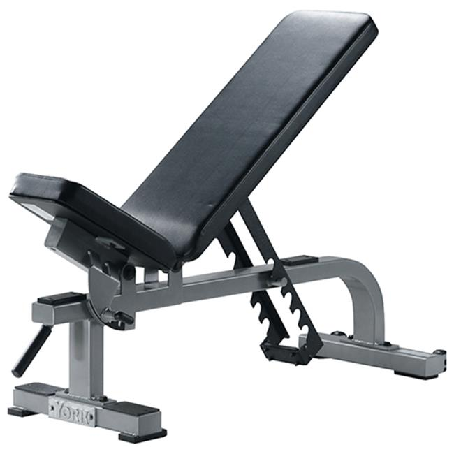 York Fitness Worldwide 54027 Flat to Incline Bench, White