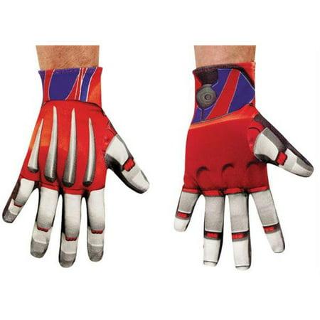 Morris Costumes DG73573 Optimus Prime Gloves Adult - Optimus Prime Costume Adult