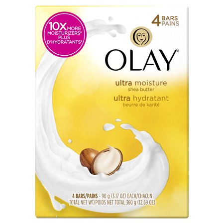 Olay Moisture Outlast Ultra Moisture Shea Butter Beauty Bar 90 g/3.17 oz, 4 (Best Bar Soap For Your Face)