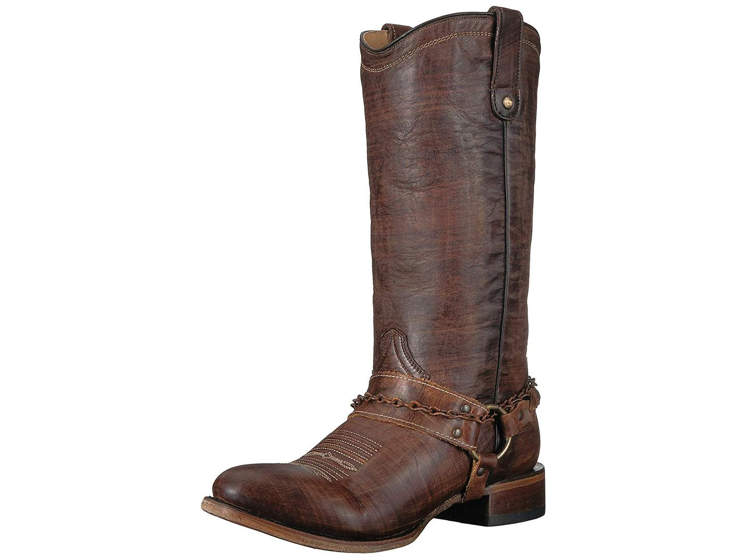 97edc3436414d Roper Womens Selah Leather Round Toe Mid-Calf Cowboy Boots