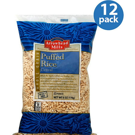 Arrowhead Mills Puffed Rice Cereal, 6 oz, (Pack of 12) Arrowhead Mills Hot Cereal