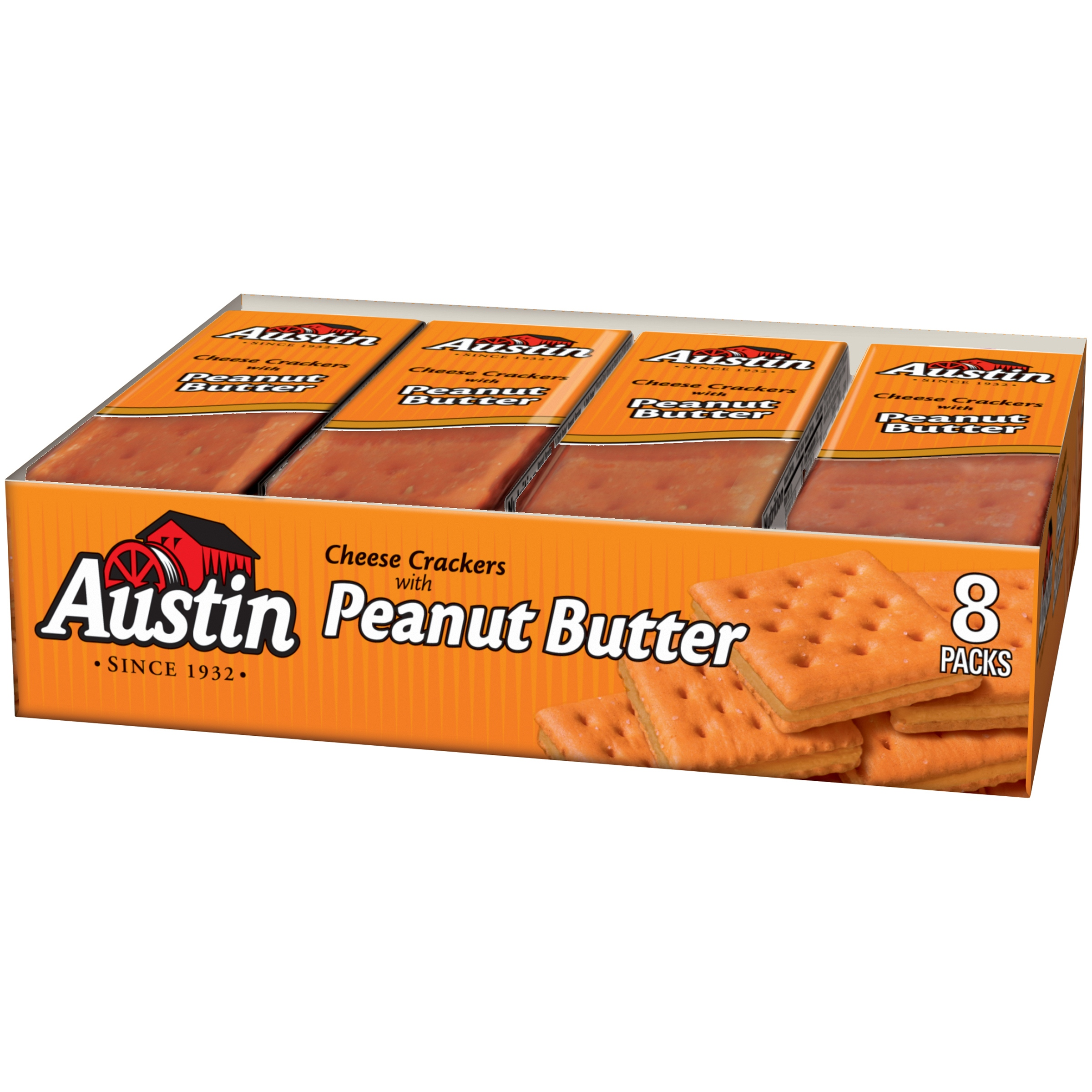 Austin Cheese Crackers with Peanut Butter, 1.38 oz, 8 pack by Wal-Mart Stores, Inc.