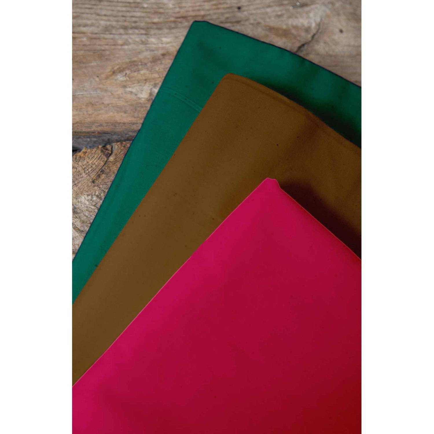 "Fall Fever Palencia Broadcloth Fabric Bundle, Berry-Trail Brown-Forest Green, 44/45"" Width, 2-yd Cuts"