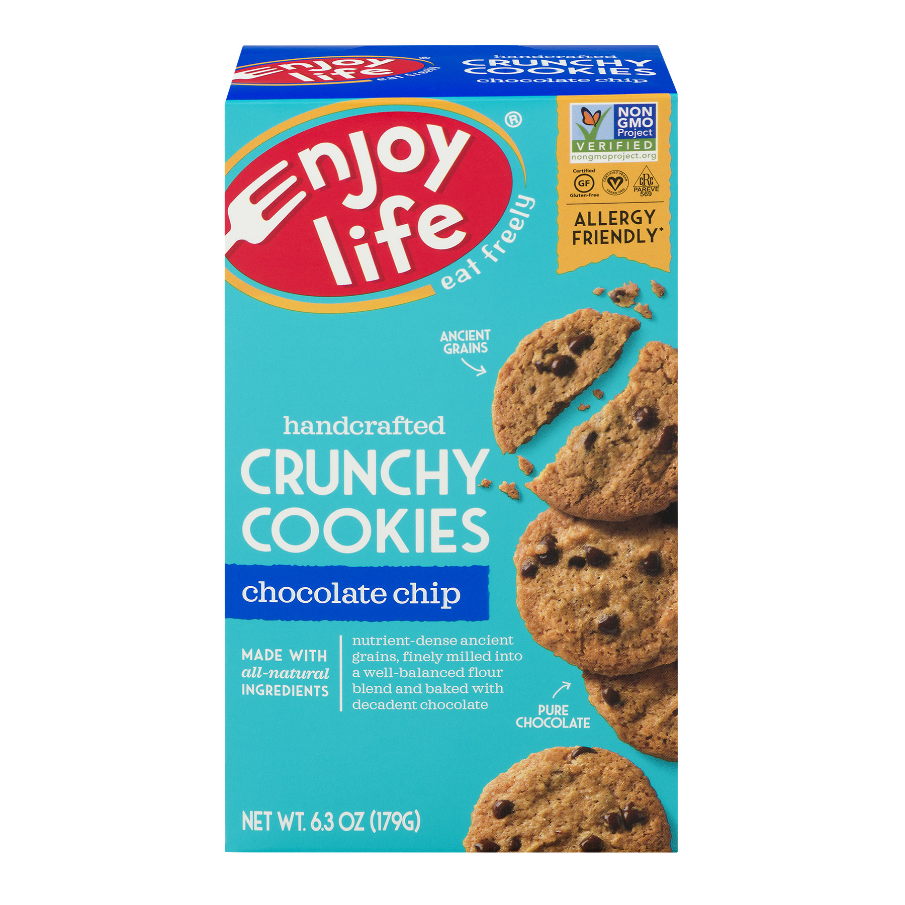 Enjoy Life Handcrafted Cookies Crunchy Chocolate Chip, 6.3 OZ
