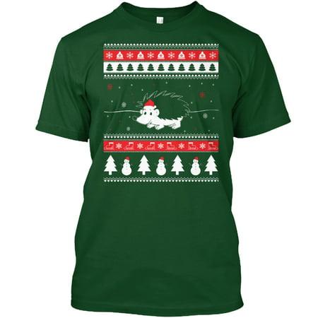 Hedgehog Christmas Jumper.Holiday Hedgehog Ugly Christmas Sweater Hanes Tagless Tee