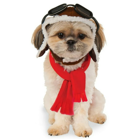 Halloween Aviator Hat and Scarf Set Pet Costume - Homemade Halloween Costume Ideas For Pets
