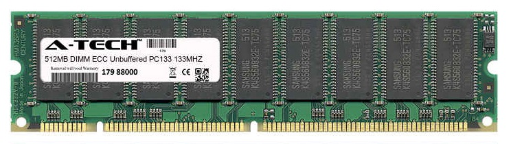 512MB Module PC133 133MHz ECC Unbuffered SD DIMM Server 168-pin Memory Ram