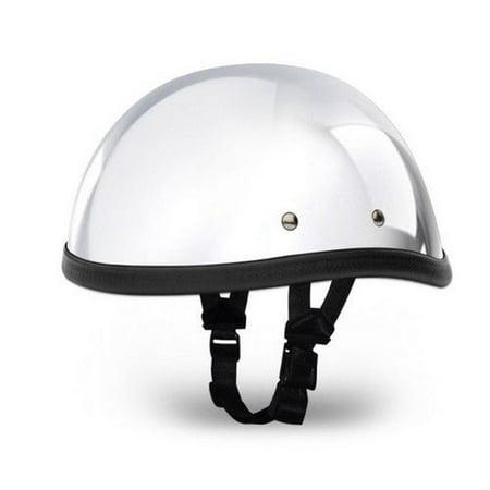 DAYTONA Novelty Skull Cap 1/2 Half Motorcycle Helmet 35 Styles NON DOT XS-XXL Chrome Novelty Half Helmets