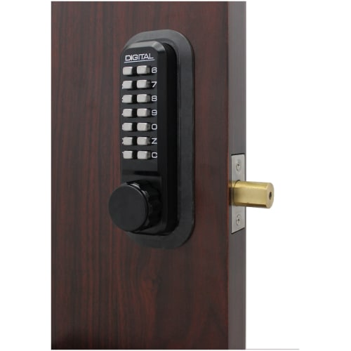 Lockey 2210 2000 Series Keyless Entry Single Combination Mechanical Knob Set with Interior Thumb Turn