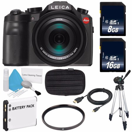 Leica V-LUX (Typ 114) Digital Camera (International Model no Warranty) + Replacement Lithium Ion Battery + Flexible Tripod with Gripping Rubber Legs + Mini HDMI Cable Bundle (Leica M Monochrom Typ 246 Sample Images)