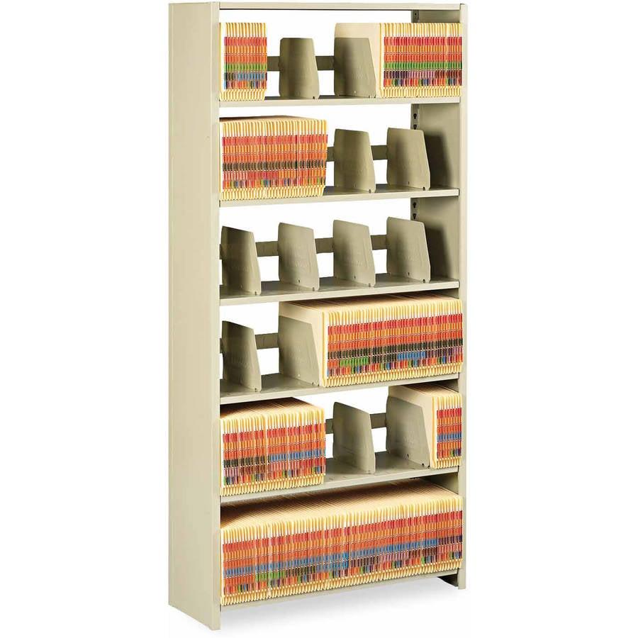 "Tennsco Snap-Together Steel 6-Shelf Closed Starter Set, 76""H, Sand"