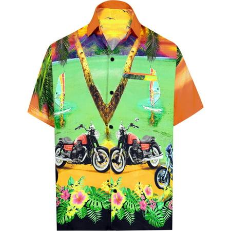 Printed Camp Shirt - Hawaiian Shirt Mens Beach Aloha Camp Party Casual Holiday Tropical Shirt Bike 3D HD Print