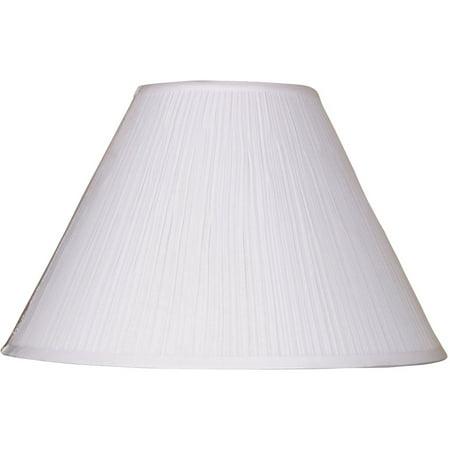 "Mainstays 18"" White Soft Pleat Lamp Shade"