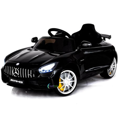 Electric power 12V Mercedes GTR ride on car for Kids with Remote Control Opening doors LED lights MP3 - (Best Car Products For Black Cars)