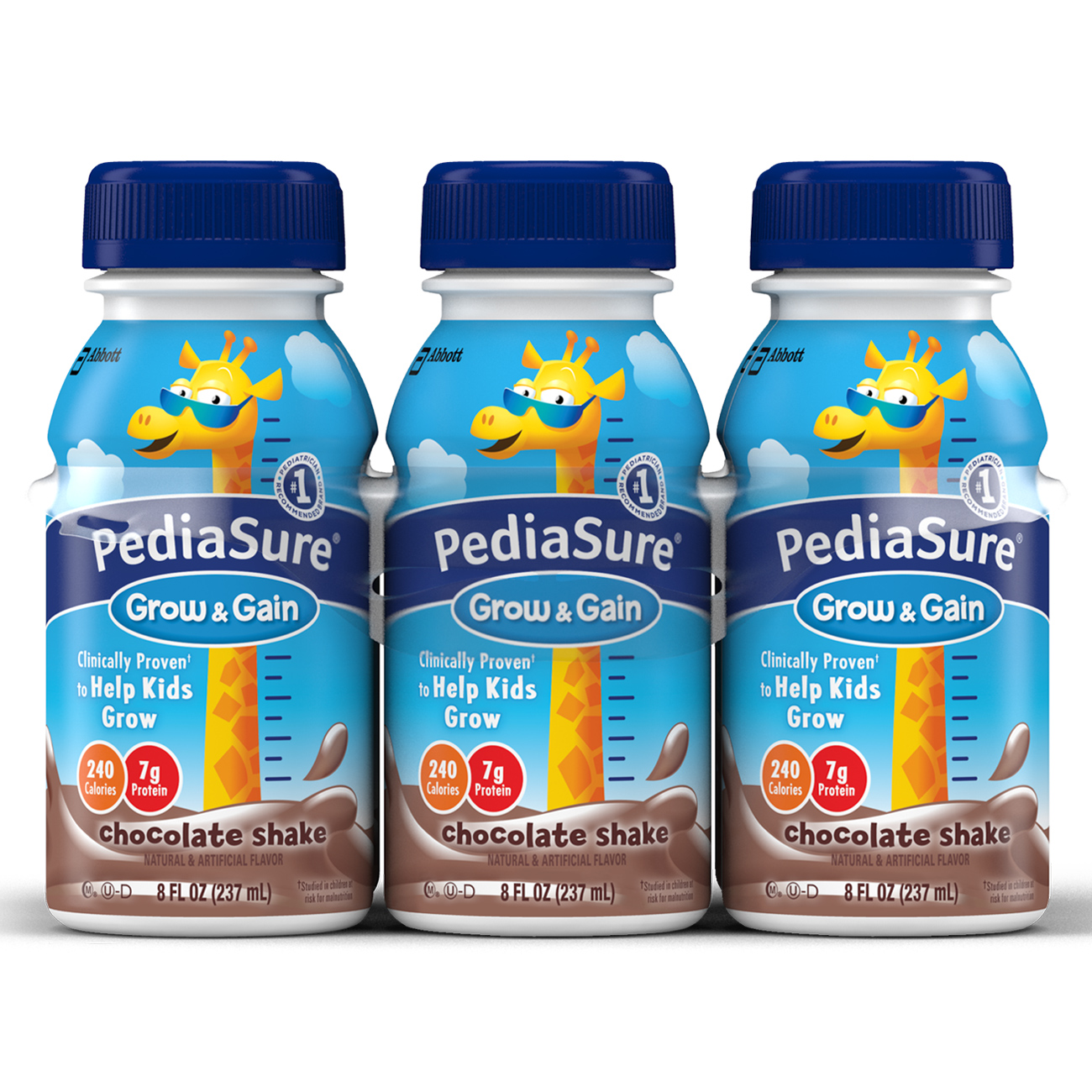 PediaSure Nutrition Drink, Chocolate Shake, 8 fl oz (Pack of 6)