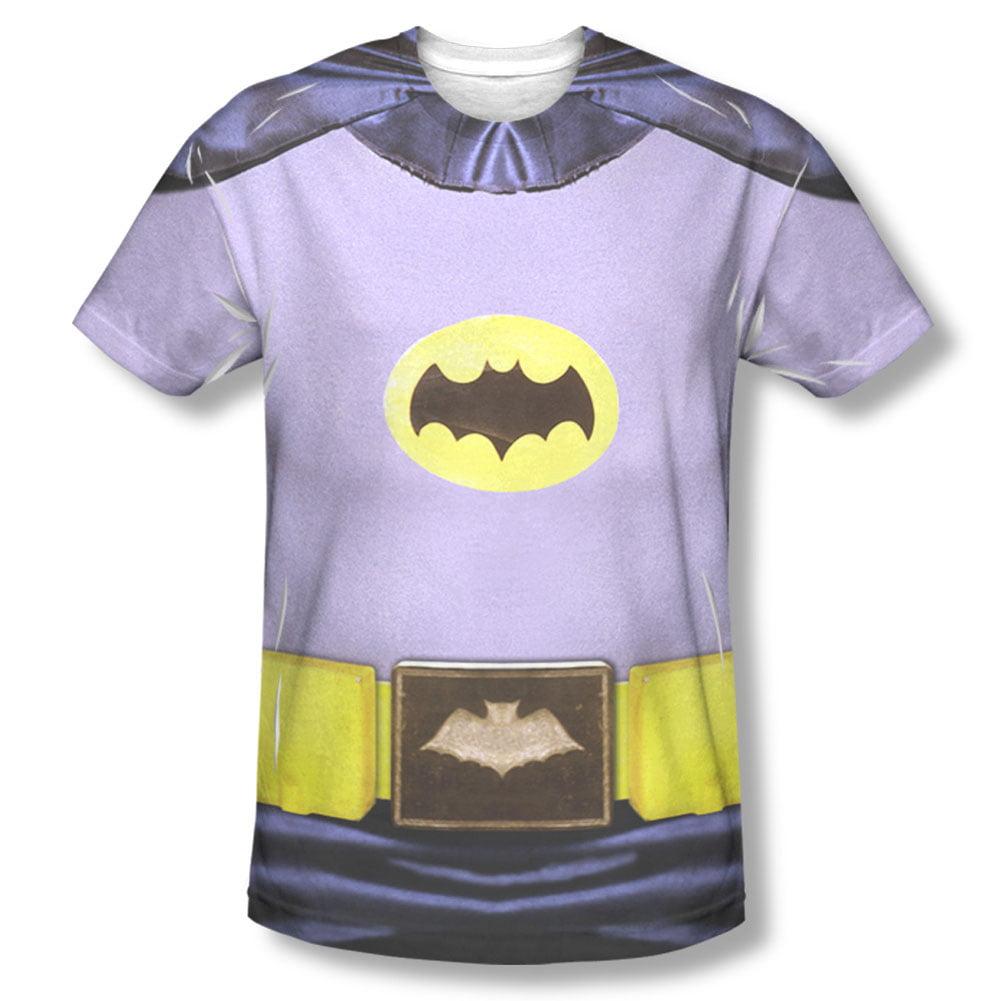 Batman Men's  Batman Costume Sublimation T-shirt White