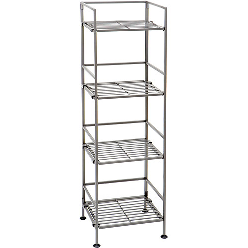 Seville Classics 4-Tier Square Iron Shelf, SHE04125