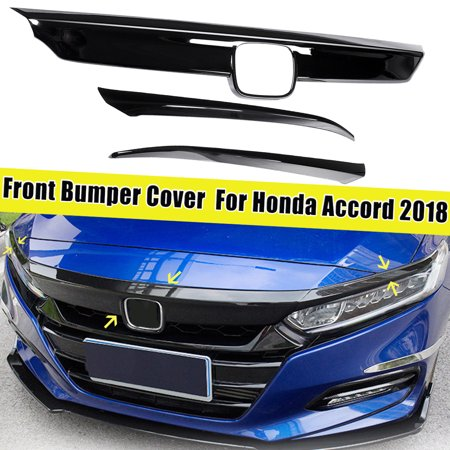 Fits For Honda Accord 10th 2018 ABS Black Car Front Bumper Cover Trim - Accord Sedan Front Bumper Cover