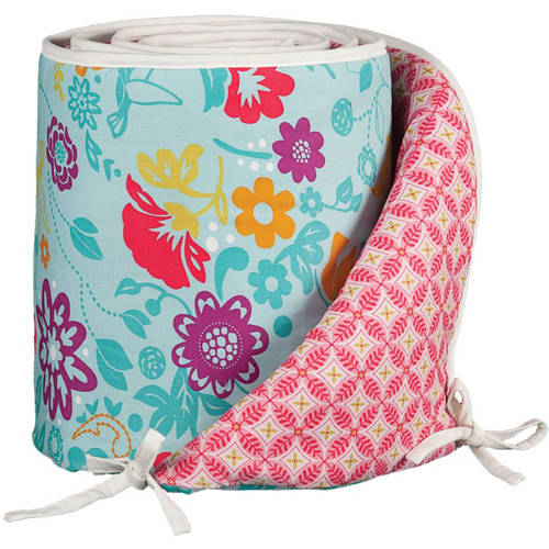 Lolli Living Poppy Seed Bumper, Whimsy Multi, 100% Cotton w/ 100% Poly Fill
