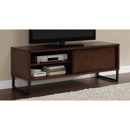 breckenridge walnut 50 inch flat screen tv stand media storage cabinet entertainment center. Black Bedroom Furniture Sets. Home Design Ideas