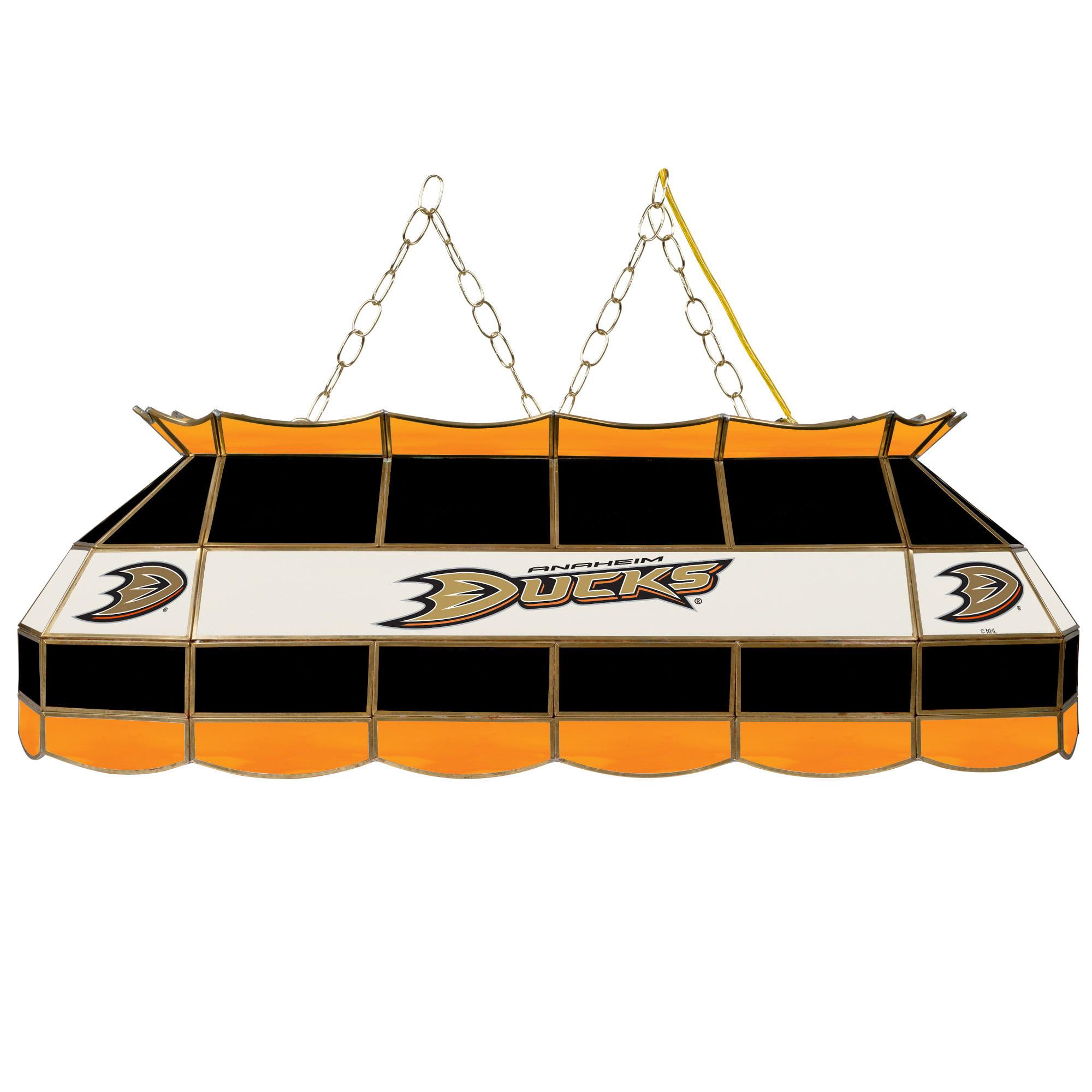 "NHL Handmade Tiffany Style Lamp, 40"", Anaheim Ducks"