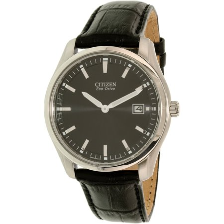 Citizen Corso Black Dial Leather Strap Men's Watch AU1040-08E