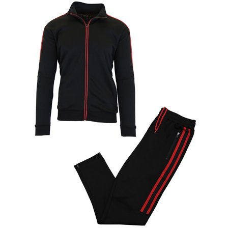 GBH Men's Active Performance Track Jacket and Jogger (2-Piece Set) Mens Athletic Active Jacket
