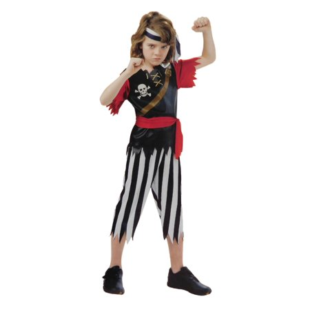 Boys Pirate King Child Halloween Costume Shirt Pants Waist Sash Headband (Ufo Rock Band Halloween)
