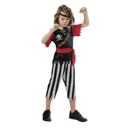 Boys Pirate King Child Halloween Costume Shirt Pants Waist Sash Headband](Halloween Pirate Makeup Boy)