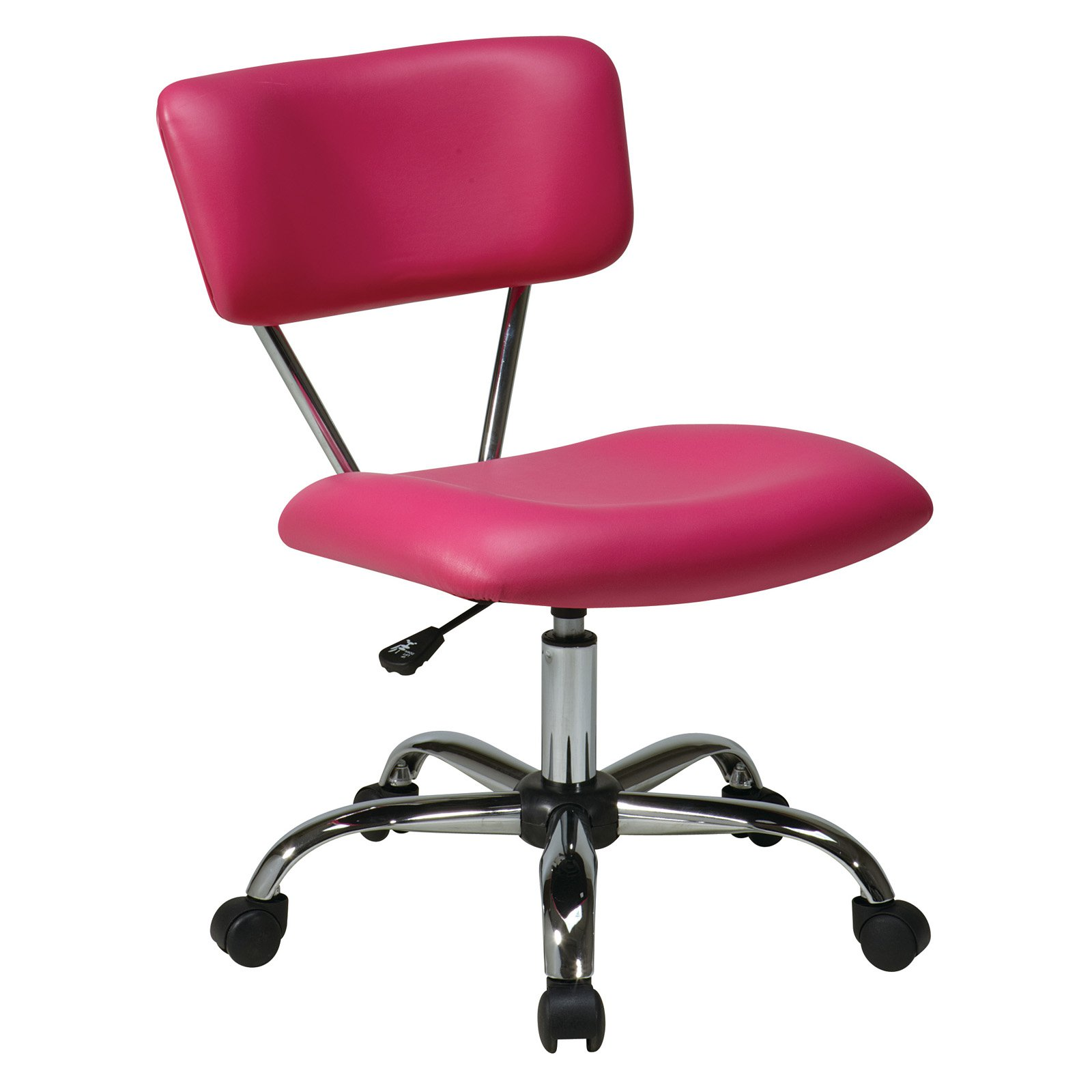 Vista Task Office Chair, Pink Vinyl