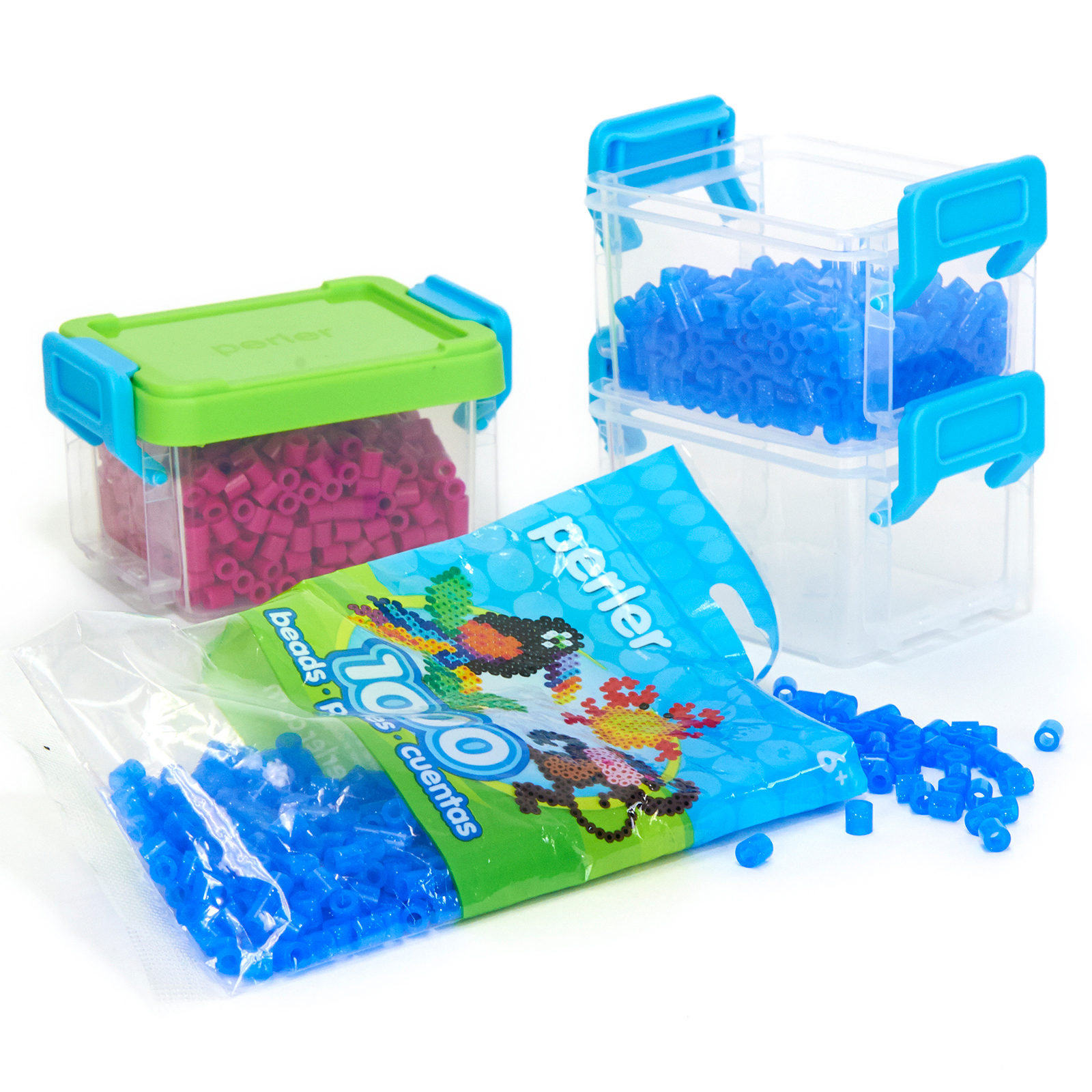 Perler Mini Rectangle Stackable Storage-